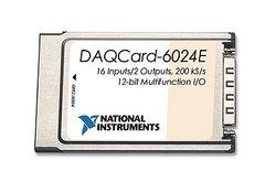 National Instruments PCMCIA DAQCard-6024E Multi I/O Data Acquisition PC Card