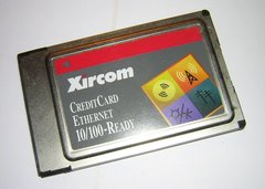 Xircom CreditCard Ethernet 10/100 PCMCIA PC Card CE3-100BTX + Dongle Cable