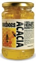 Seebees Acacia Honey With Comb 450g