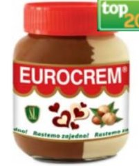 Eurocrem Chocolate & Vanilla Spread 800g