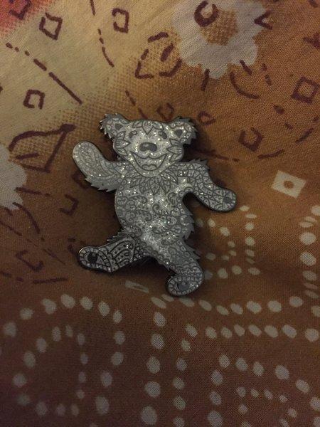 Glitter Bear Hatpin