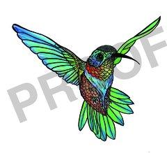 Hummingbird Water Color Print