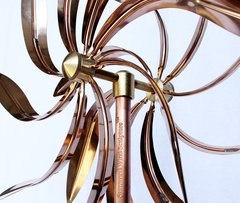 CWS-02 Kinetic Copper Dual Spinner - Dancing Willow Leaves
