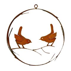R202 Bird Wire Wreath