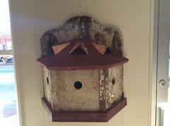 The Monticello. 1890 repurposed Barnwood, 3 family Bluebird