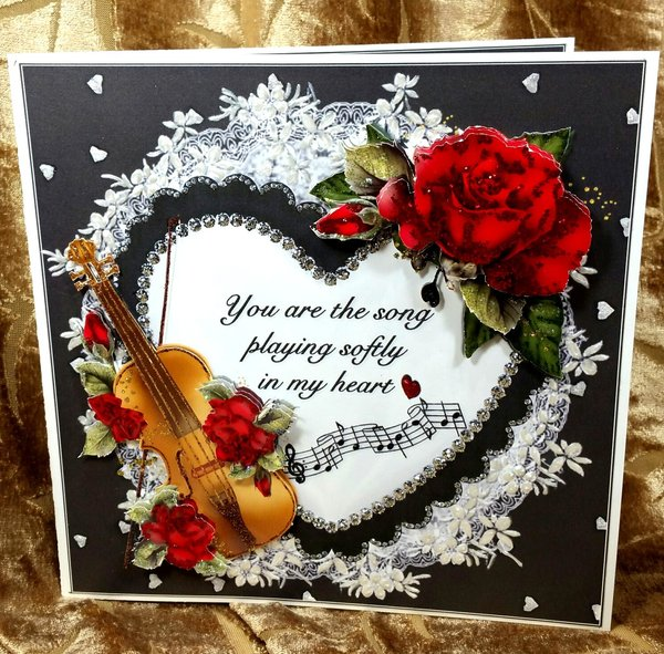 Song in my heart valentinemulti occasion gift set handmade handmade greeting card song in my heart valentinemulti occasion gift set item vald013 m4hsunfo Images