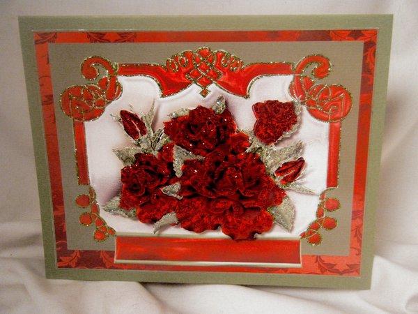 Handmade greeting card elegant red roses multi occasion handmade handmade greeting card elegant red roses valentinemulti occasion item vald003 m4hsunfo