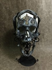 War Chaplain Real Human Skull Replica Carved by Zane Wylie