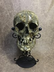 Seven Horned Lamb Real Human Skull Replica Carved by Zane Wylie