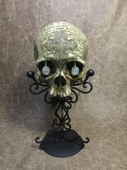 St. Benedict Theme Real Human Skull Replica Carved by Zane Wylie