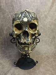 Jacques de Molay Real Human Skull Replica Carved by Zane Wylie