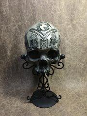 Free Mason Theme Real Human Skull Replica Carved by Zane Wylie