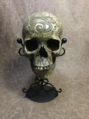 Shakespeare Theme Real Human Skull Replica Carved by Zane Wylie