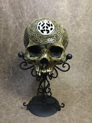 Odin Seer Real Human Skull Replica Carved by Zane Wylie