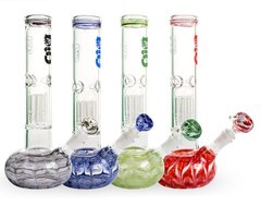 "12"" Bio Flat Bubble Waterpipe With Bag"