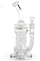 "10"" Bio Circ / Thorn Recycler Straight Waterpipe - Black Decal"