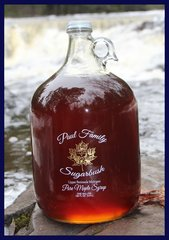 Pure Maple Syrup Glass Jug One Gallon/ 128 fl oz (3.8 L)