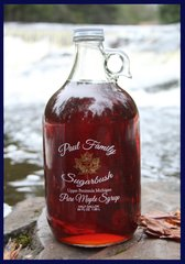 Pure Maple Syrup Glass Jug Half Gallon/ 64 oz (1.89L)