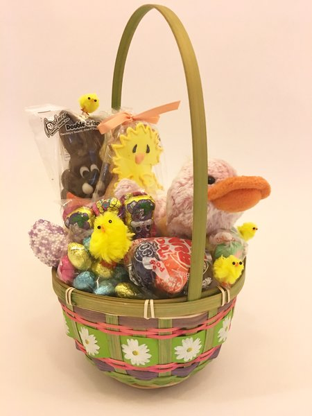 Easter gift baskets easter baskets for kids easter chocolate ba easter sweets duck basket negle Gallery