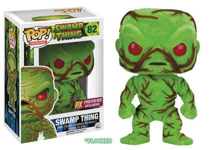 Funko POP! DC PX exclusive SWAMP THING #82 flocked and scented SDCC2016