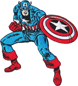 Patch Captain America Standing