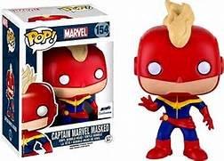 Funko POP! Marvel CAPTAIN MARVEL MASKED #154 GTS exclusive