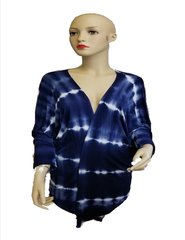 Blue and white tie dye easy jacket