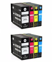 Dubaria 2700 XL Ink Cartridges Compatible For Canon PGI 2700 XL Ink Cartridge Combo For Use In Canon Maxify IB 4080, IB 4070, IB 4170, MB 5070, MB 5080, MB 5370, MB 5470 Printer All Four Cartridge - 2 Combo Packs