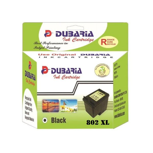 Dubaria 802 XL Black Ink Cartridge For HP 802XL Black Ink Cartridge
