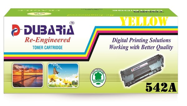 Dubaria 542A Compatible For HP CB542A Yellow Toner Cartridge / HP 125A Yellow Toner Cartridge For Cm1312