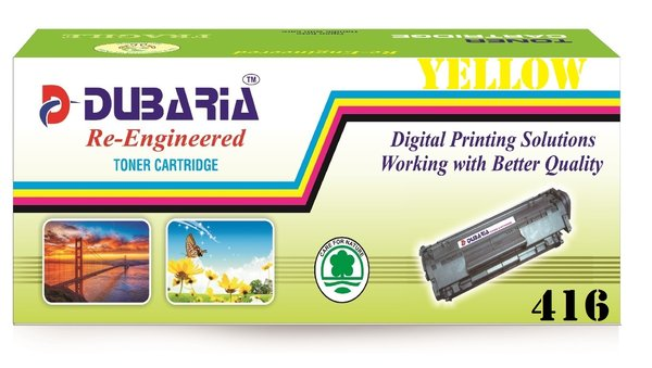 Dubaria 416 Yellow Toner Cartridge Compatible For Canon 416 Yellow Toner Cartridge