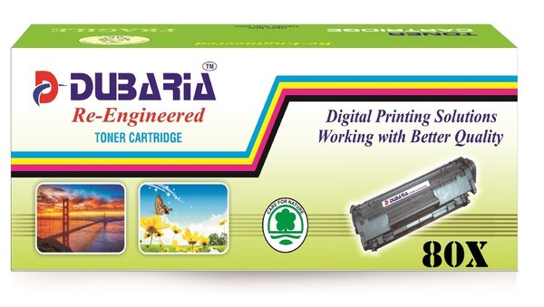 Dubaria 80X Compatible For HP 80X Black Cartridge For LaserJet Pro 400 , 400 ,m425 Series