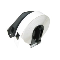 Dubaria DK11203 File Folder Label Tape Cartridge With Holder (17MM X 87MM) 300 Die Cut Labels For Use In Brother QL-570, QL-580N, QL-700, QL-720NW Printers