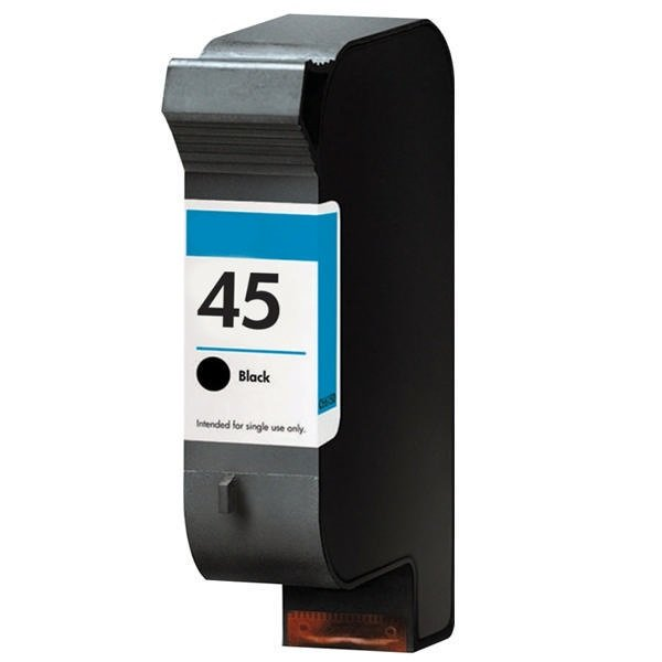 Dubaria 45 Black Ink Cartridge Compatible For HP 45 / 51645AA Black Ink Cartridge For Use In HP DeskJet 712, 720, 722, 820, 830, 832, 850, 855, 870, 880, 882, 890, 895, 930, 932, 935, 950, 952, 960, 970, 990, 995, 1100, 1120, 1180, 1220 Printers
