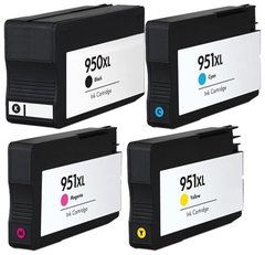 Dubaria 950 XL Black, 951 XL Cyan, 951 XL Magenta, 951 XL Yellow Combo Pack of 4 for OfficeJet Pro 276dw, 8600 E, 8600 Plus, 8610, 8620, 251dw, 8100, 8630 Printers