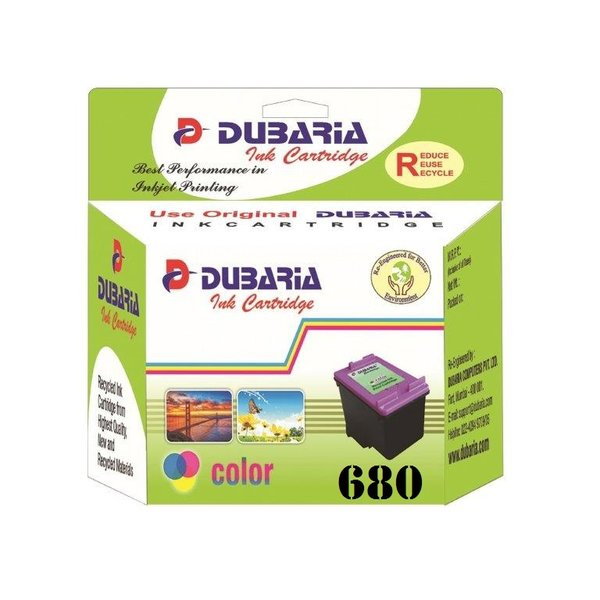 Dubaria 680 Tricolour Ink Cartridge For HP 680 Tricolour Ink Cartridge