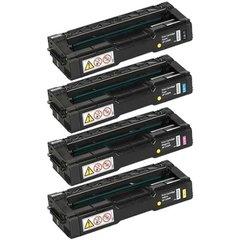Dubaria Color Toner Cartridges Compatible For Ricoh C220, C221, C222, C240 (406046 Black, 406047 Cyan, 406044 Yellow, 406048 Magenta) Toner Cartridge Kit
