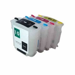 Dubaria Empty Refillable Cartridge For HP DesignJet 100 / 100 Plus 110, Business InkJet 1000 / 1100 Printers Compatible With HP 10 (69 ML) C4844A / HP 11 (28 ML) C4836A / 37A / 38A