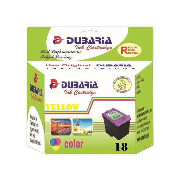 Dubaria 18 Yellow Ink Cartridge For HP 18 Yellow Ink Cartridge