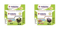 Dubaria 810 Black and 811 Tricolor Combo Multicolor Ink for Canon