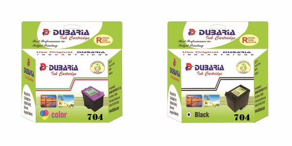 Dubaria 704 Black & Color Ink Cartridge Combo For HP 704 Ink Cartridge