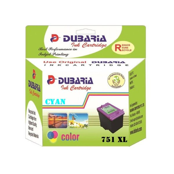 Dubaria 751 XL Cyan Ink Cartridge For Canon 751XL Cyan Ink Cartridge
