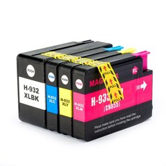 Dubaria 932 XL & 933 XL Combo Ink Cartridge For HP 932 XL & 933 XL Ink Cartridges Combo For Use In HP OfficeJet Pro 6100, 6600, 6700, 7110, 7612, 7610, 7510, 7512 Printers