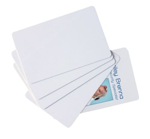 Dubaria Plain White PVC ID Cards For Epson L800, L805, L810, L850, R280, R290, T50, T60, P50, P60 InkJet Printers - Set of 50 Cards