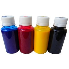 Dubaria Refill Ink For Use In Epson CISS, Printers & InkJet Cartridges - Cyan, Magenta, Yellow & Black - 100 ML Each Bottle