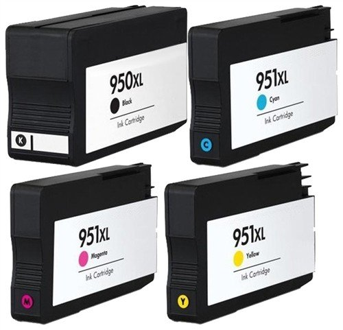 Dubaria 950 XL Black, 951 XL Cyan, 951 XL Magenta, 951 XL Yellow For OfficeJet Pro 276dw, 8600 E, 8600 Plus, 8610, 8620, 251dw, 8100, 8630 Printers - Combo Value Pack