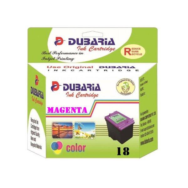 Dubaria 18 Magenta Ink Cartridge For HP 18 Magenta Ink Cartridge