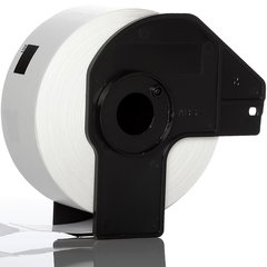 Dubaria DK11201 White Paper With Spool Holder (29MM X 90MM) 400 Die Cut Labels For Use In Brother QL-570, QL-580N, QL-700, QL-720NW Printers