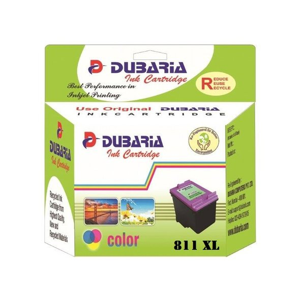 Dubaria 811 XL Tricolour Ink Cartridge For Canon 811XL Tricolour Ink Cartridge