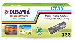 Dubaria 322 CyanToner Cartridge Compatible For Canon 322 Cyan Toner Cartridge